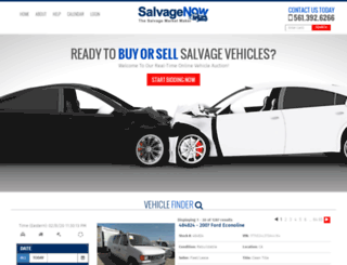 salvagenow.com screenshot