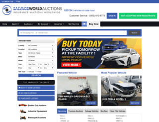 salvageworldauctions.com screenshot
