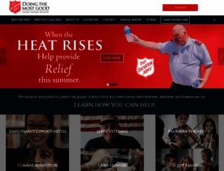 salvationarmyalm.org screenshot