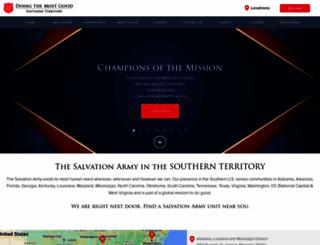salvationarmysouth.org screenshot