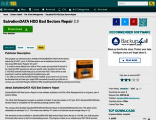 salvationdata-hdd-bad-sectors-repair.soft112.com screenshot