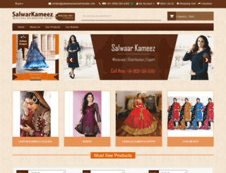 salwarkameezwholesale.com screenshot
