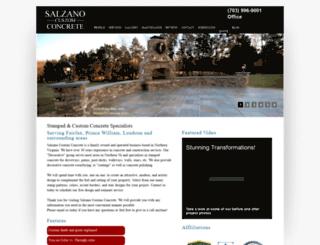 salzanoconcrete.com screenshot