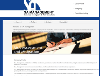 samanagement.co.za screenshot