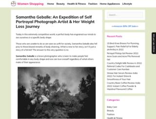 samanthageballe.com screenshot