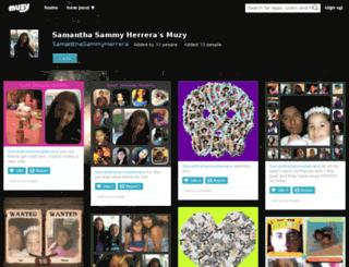 samanthasammyherrera.muzy.com screenshot