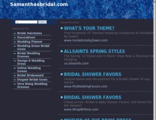 samanthasbridal.com screenshot
