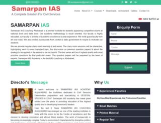samarpaniasacademy.co.in screenshot