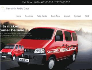 samarthradiocabs.com screenshot