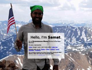 samat.org screenshot
