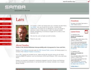 samba.anu.edu.au screenshot