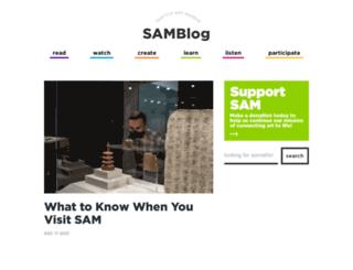 samblog.seattleartmuseum.org screenshot