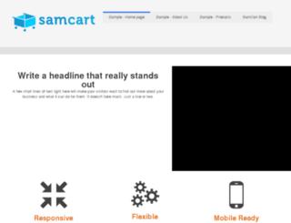 samcart.hs-sites.com screenshot