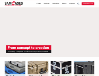 samcases.co.uk screenshot