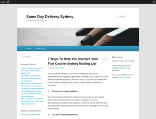 samedaydeliverysydney.edublogs.org screenshot