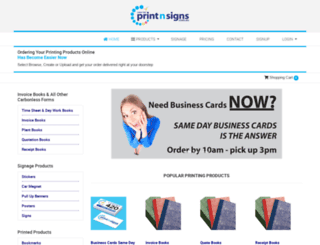 samedayprintnsigns.com.au screenshot
