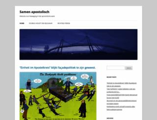 samenapostolisch.nl screenshot
