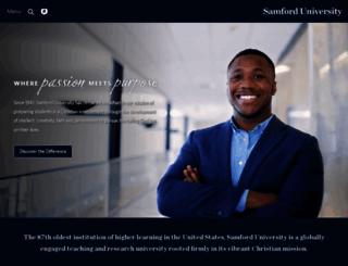 samford.edu screenshot