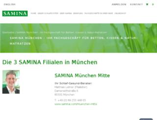 samina-muenchen.de screenshot