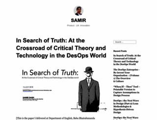 samirshomepage.wordpress.com screenshot