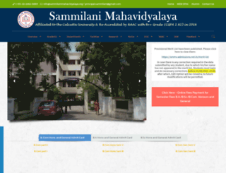 sammilanimahavidyalaya.org screenshot