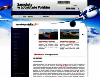 samolotypolskie.pl screenshot