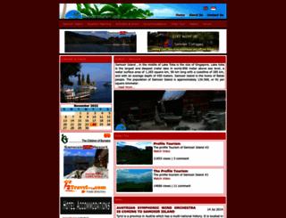 samosirtourism.com screenshot
