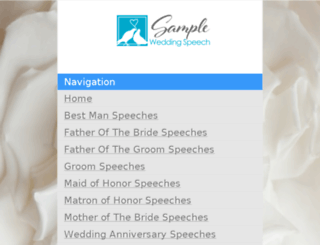 sample-wedding-speech.com screenshot
