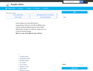 sampleletters.org screenshot