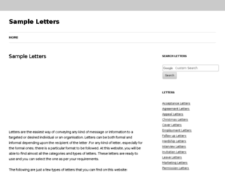 sampleletters.org.uk screenshot
