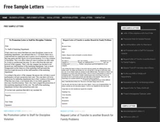 sampleletters4u.org screenshot