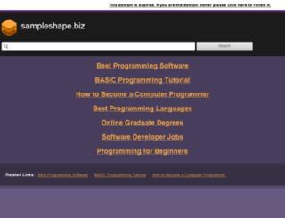 sampleshape.biz screenshot
