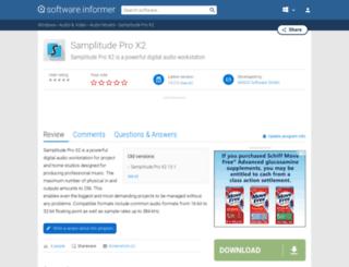 samplitude-pro-x2.software.informer.com screenshot