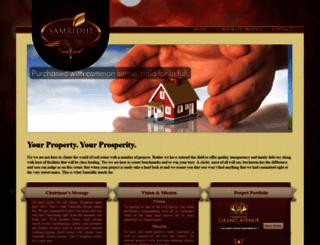 samridhirealty.com screenshot