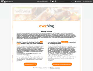 samsana.canalblog.com screenshot