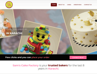 samscakefactory.com screenshot