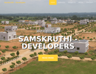 samskruthidevelopers.com screenshot