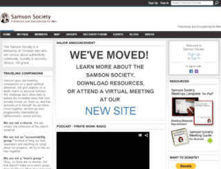 samsonsociety.ning.com screenshot