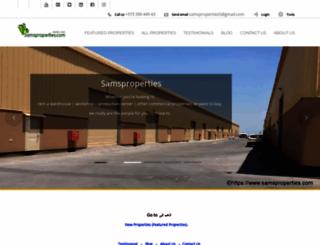 samsproperties.com screenshot