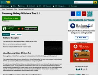samsung-galaxy-s-unlock-tool.soft112.com screenshot