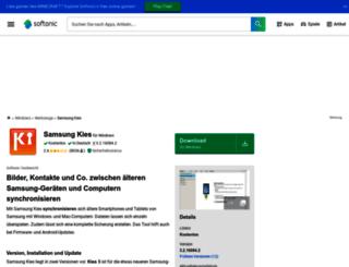 samsung-kies.softonic.de screenshot
