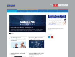 samsungbusiness.cio.com screenshot