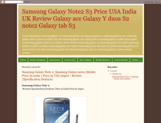 samsunggalaxys-price.blogspot.in screenshot