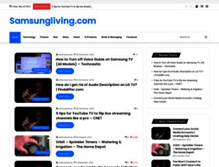 samsungliving.com screenshot