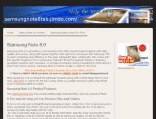 samsungnote8tab.jimdo.com screenshot