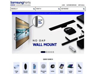 samsungparts.com screenshot