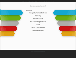 samsungsecurity.co.uk screenshot