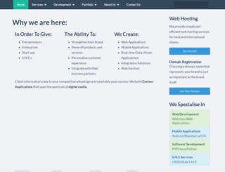 samswebhosting.com screenshot