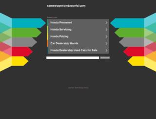samswopehondaworld.com screenshot