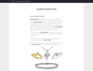 samuelsjewelers.affiliatetechnology.com screenshot